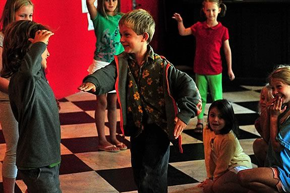 Rehearsing for 'The Enchanted Forest' Ian Buchanan Gloucester Stage Company