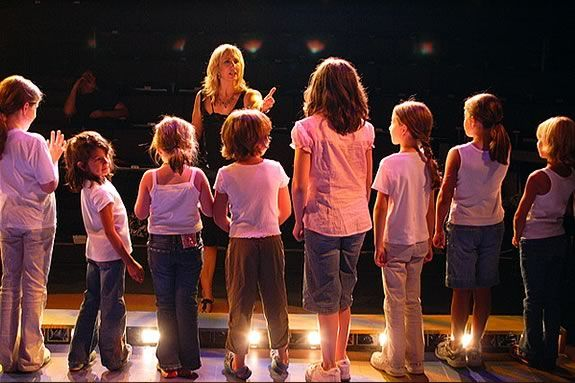Heidi Dallin encourages students to develop their theater skill at the YAW