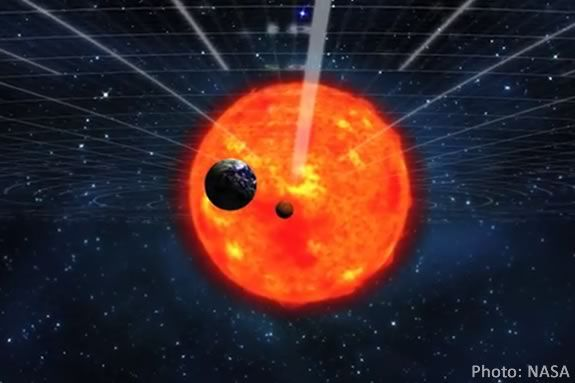 A transit of Venus is when Venus passes directly between the Earth and the Sun.