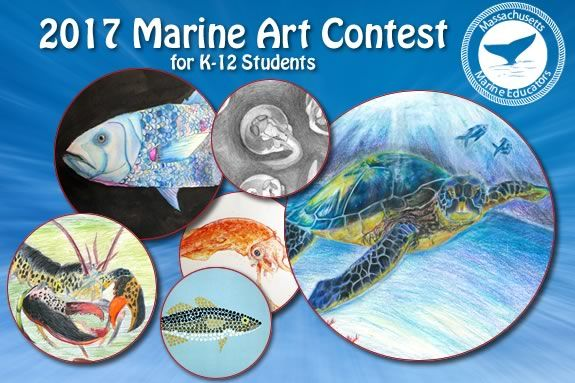 Kids of all ages are invited to enter the 2017 Massachusetts Marine Educator's Marine Art Contest!