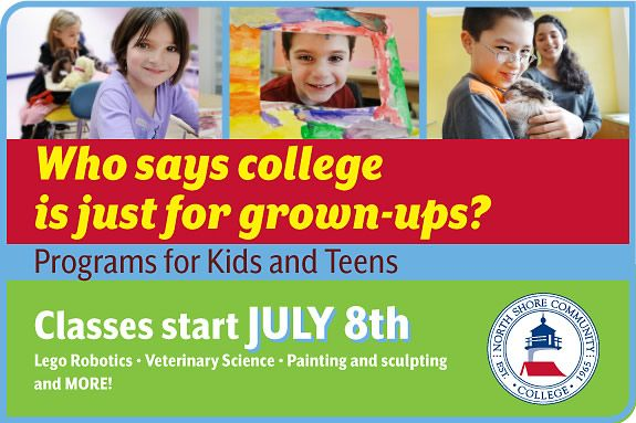 North Shore Community College Youth Programs and Kids to College Summer Programs