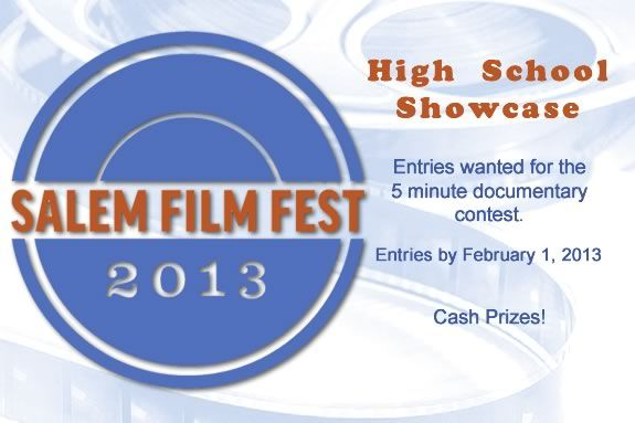 Massachusetts High School student are encouraged to enter the Salem Film Fest