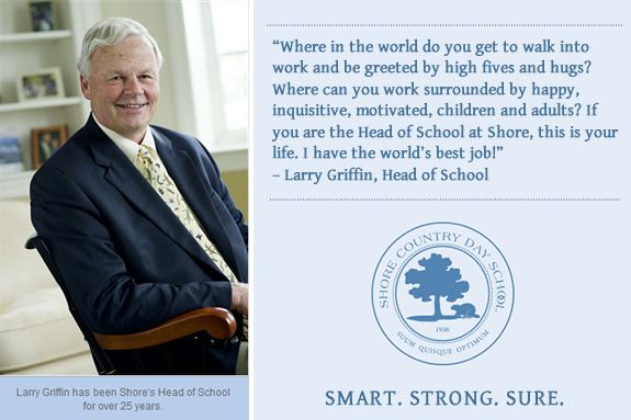 Message from the Head of School Larry Griffin, Shore Country Day School, Indepen