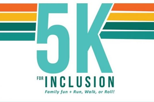 The 5k for inclusion is hosted by Northeast Arc and includes a 5K, a 1 mile walk, stroll or roll, and fun for the whole family!