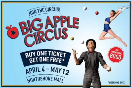 Big Apple Circus at NorthShore Mall in Peabody MA