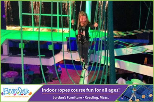 Beanstalk Adventure Indoor Ropes Course at Jordans Furniture