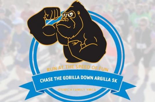 Chase Argy the Gorilla down Argilla Road in Ipswich Ma in this fun 5k for all ages!