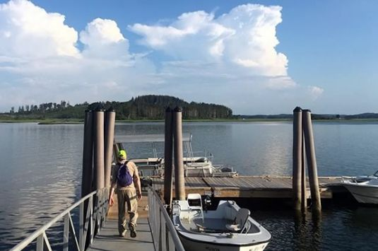 Take in beautiful views of the Crane Wildlife Refuge while learning about estuary flora and fauna and environmental conditions at the Crane Boat Dock.