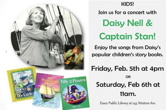 Music stories and family fun featuring Daisy Nell at the TOHP Library in Essex!