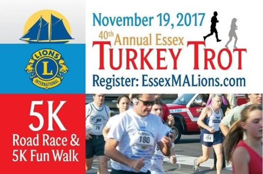 Don't be a turkey! Join the fun in Essex Massachusetts for the annual turkey trot!
