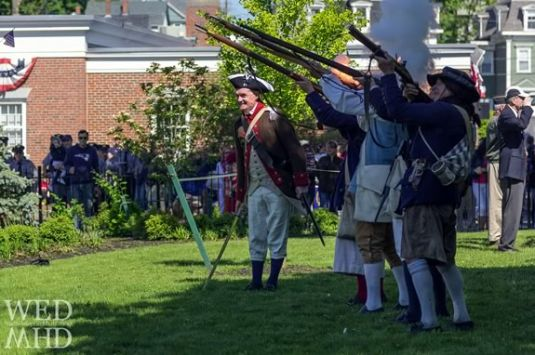 Glover's Regimment Fires a Salute on Memorial Day in Marblehead Massachusetts. Photo: Eyal Oren, Wednesdays in Marblehead