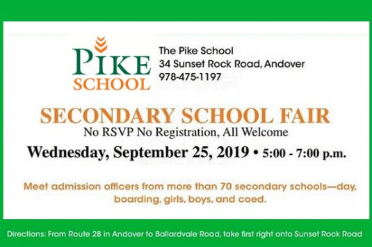 Independent Secondary School Fair at Pike School in Andover