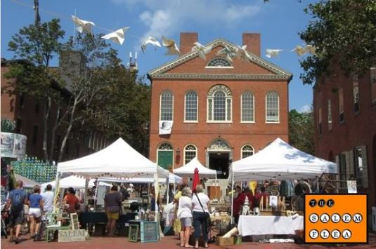 The Salem Flea is a market that happens every third Saturday at Derby Square in Salem Massachusetts!
