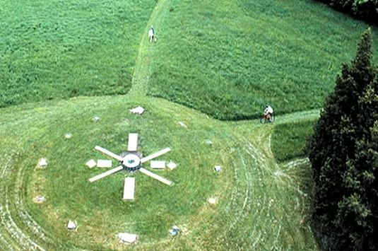 Holt Hill at Ward Reservation is marked with Solstice Stones and has panoramic