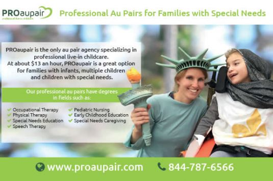 Professional Au Pairs for families with special needs